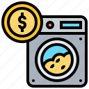 crime, financial, illegal, laundering, money icon