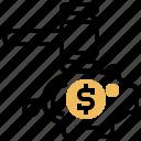 bankruptcy, debt, failure, financial, problem icon