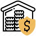 financial, money, protection, safety, security icon