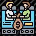 financial, interactive, lending, p2p, peer icon