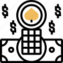 chip, exchange, money, token, gambling icon