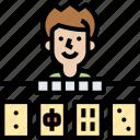 mahjong, game, chinese, fun, recreation