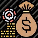 money, cash, win, jackpot, casino