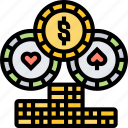 token, chip, casino, play, fortune
