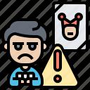 alert, beware, joker, risk, warning icon