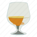 alcohol, brandy, cartoon, glass, liquor, scotch, whiskey icon