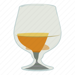 alcohol, brandy, cartoon, glass, liquor, scotch, whiskey icon