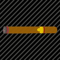 cartoon, cigar, habit, havana, leaf, smoke, tobacco icon