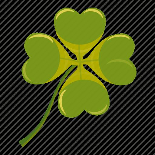 cartoon, clover, day, four, irish, leaf, luck icon