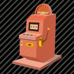 cartoon, casino, gambling, game, machine, play, slot icon