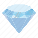 cartoon, crystal, diamond, gem, jewelry, precious, treasure icon