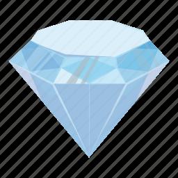 cartoon, crystal, diamond, gem, jewelry, precious, treasure icon
