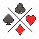card, club, diamond, game, heart, spade, suit icon