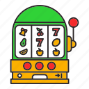 bandit, casino, game, one-armed, puggy, slot icon