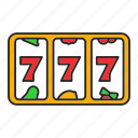 bandit, casino, jackpot, lucky, one-armed, seven icon