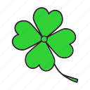 clover, day, fortune, four-leaf, luck, patrick