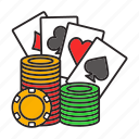 blackjack, card, casino, chip, game, kare, poker