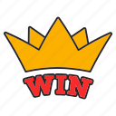 casino, crown, fortune, game, jackpot, luck, win icon