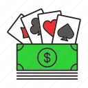 bet, card, cash, casino, gambling, game, money