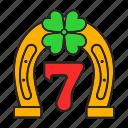 clover, four-leaf, gambling, horseshoe, luck, seven