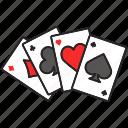 ace, card, casino, gambling, game, kare, poker icon