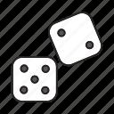 casino, cube, dice, dot, gambing, game, play