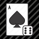 ace, card, casino, dice, gambling, game, play