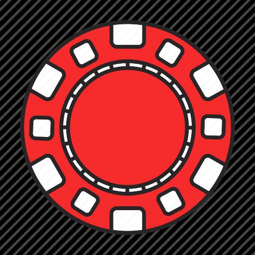 Bet, casino, chip, gambling, game, play, token icon