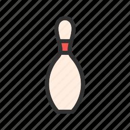 ball, bowling, casino, fun, pin, sport, strike icon