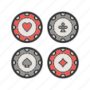 casino, chips, game, money, poker, set icon