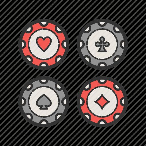 casino, chips, game, money, poker, set icon