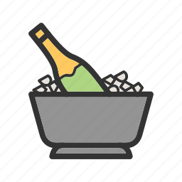 alcohol, bottle, casino, champagne, game, green, wine icon