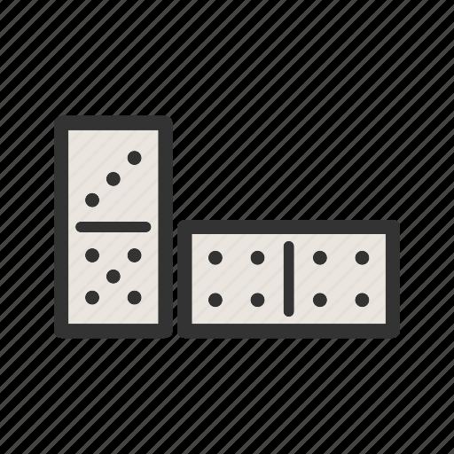 block, casino, domino, dominos, game, path, play icon
