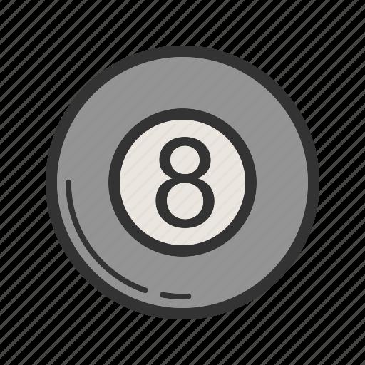 ball, billiard, casino, pool, red, snooker, table icon