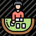 baccarat, bet, card, croupier, gambling icon