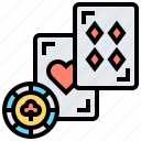 betting, blackjack, cards, chips, game icon