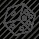casino, cube, dice, gamble icon