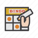 bingo, bingo cards, card game, eureka, gambling, game icon