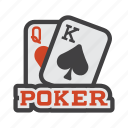 baccarat, blackjack, casino, cribbage, euchre, poker, poker game icon