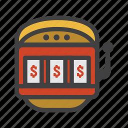 coin machine, fruit machine, machine, one-armed bandit, slot, slot machine, vending machine icon