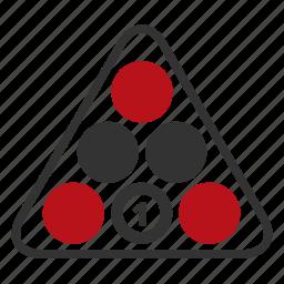 balls, billard, game, liesure game icon