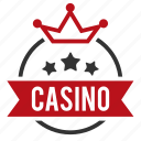 casino, crown, gambling, games, leisure games, royal icon