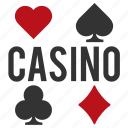 casino, club, diamond, heart, spade, suit icon