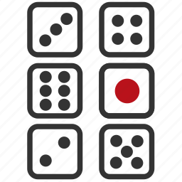 casino, dices, game, play icon