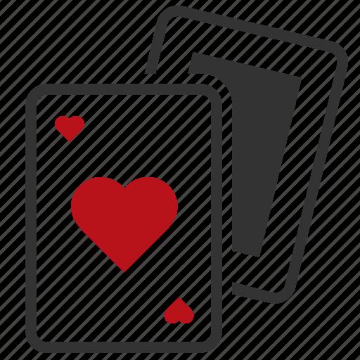 cards, casino, gambling icon