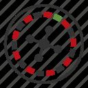 casino, roulette icon