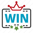 award, crown, win, winner icon