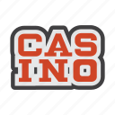 amusement park, casino, gambling house, gaming house icon
