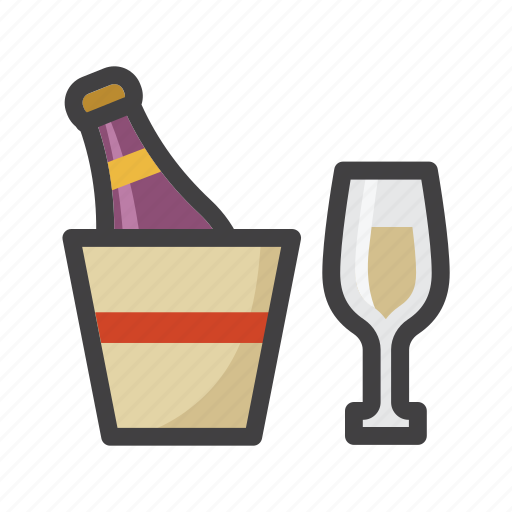 bubbly, champagne, drink, glass of wine, glasses, sparkling wine icon