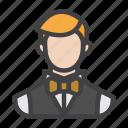 agent, butler, croupier, gambler, male, player